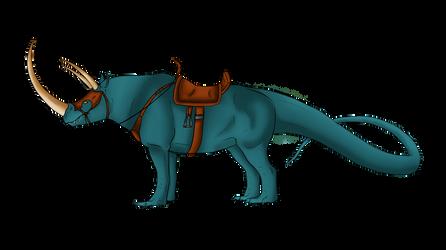 Colored! Komodo Rhino by TalonV by Mythoria
