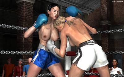 Nikki Martin vs Dagmar Hammersgeld 19 by MerlinKing