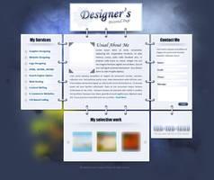 Personal Portfolio - One Page Portfolio by Saptarang