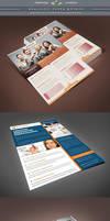 Realistic Flyer Mockup Template by Saptarang
