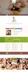 Spa Landing Page Template by Saptarang