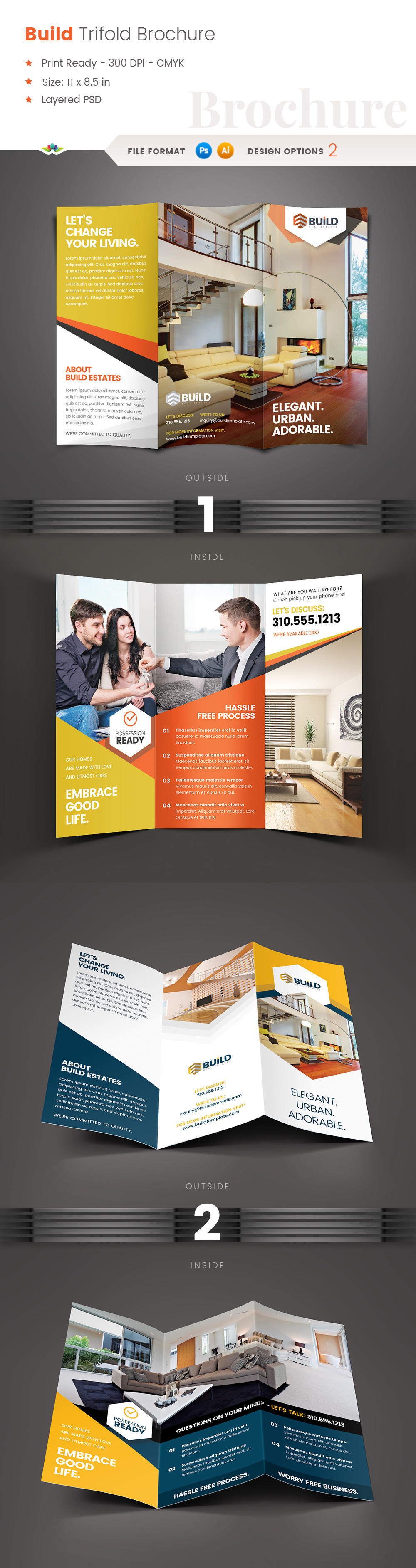 Build Real Estate trifold brochure by Saptarang