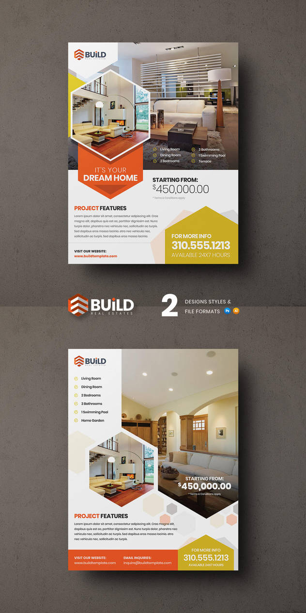 Build Real- Estate flyer by Saptarang