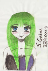 Watercolour girl by cronalove
