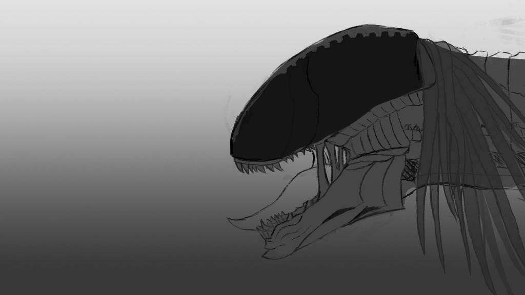 Alien/Dragon by MsieuFrodon