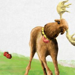 Drunk moose by BenJuarez