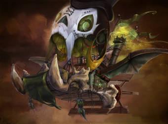 Voodoo Airship by kookyspooks