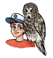 Daemon Falls: Dipper Pines and Mezariah by X-I-L2048