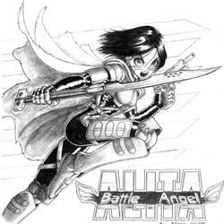 Battle Angel Alita commission by RedShoulder