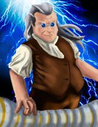 Ben Franklin by OtakuWolfCub