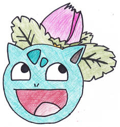 Ivysaur Awesome Face by cbmcqttcf