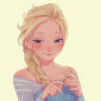 Elsa is Shy by armagedon1st
