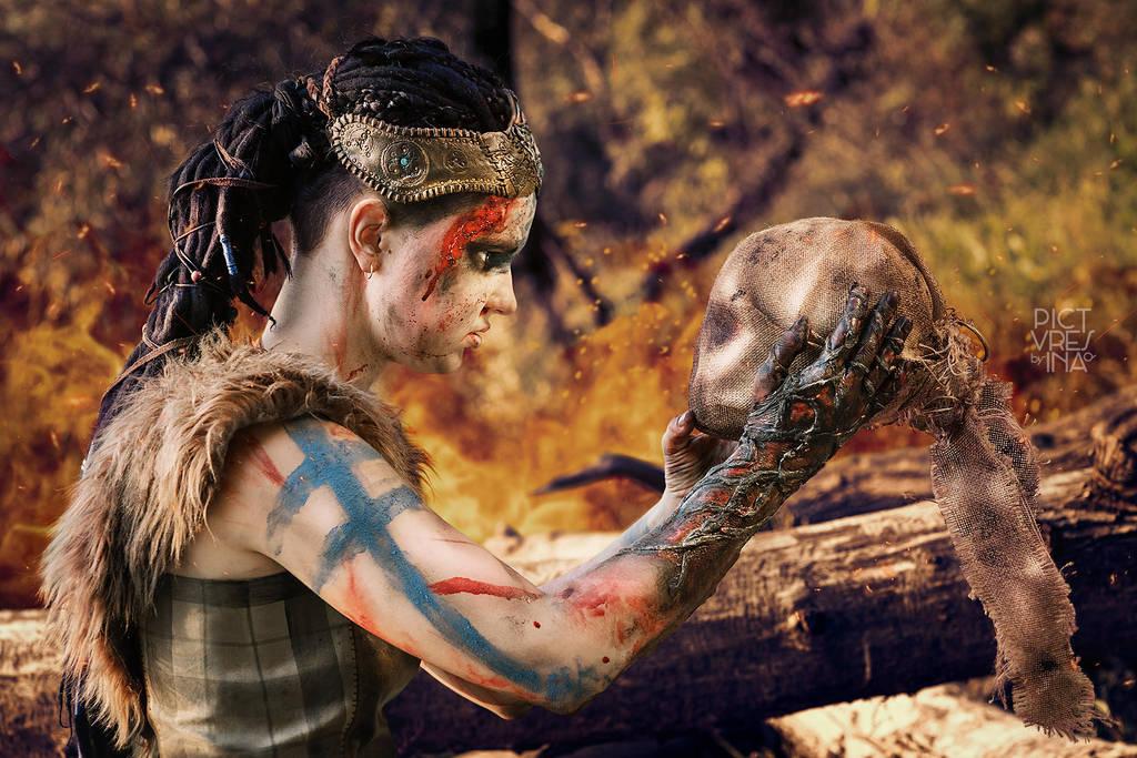 Senua - Hellblade Senua's Sacrifice cosplay by vrihedd1