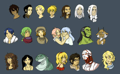 Character Icon Set by bwaka
