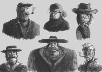 Wild west characters ^__^ by Elfenzorn