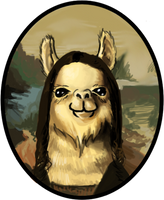 the Mona Llama by DavidBrainbow