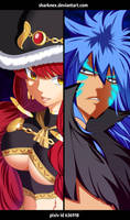 Fairy Tail 488 - Acnologia VS Eileen by sharknex