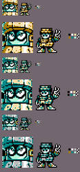 A certain Magaman 11 Robot Master sprite by KaizoZhang