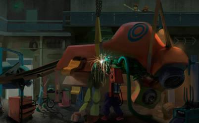 Mechanics Garage by IrisRevolver