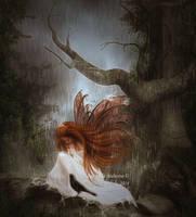Lost in the rain by MelFeanen