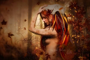 Wolf Maiden by MelFeanen