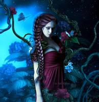 Midnight rose by MelFeanen