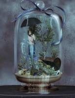 Little Mermaid in Jar III by MelFeanen