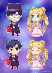 Sailor Moon chibis by Vreemdear