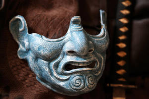 Samurai Menpo Mask (frostbite finish) by Faust-and-Company