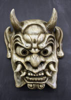 Oni Mask in Antique white by Faust-and-Company