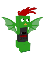 A chicken-creeper-dragon-bomber hybrid by EnteringTheNethery