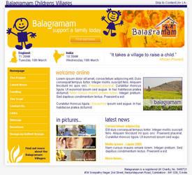 Balagramam Childrens Charity by reflectdesign