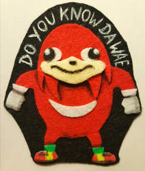 Uganda Knuckles felt pin for sale by Oceansoul7777