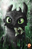 Toothless Fanart (Term 4 reward) by Ruby--Art