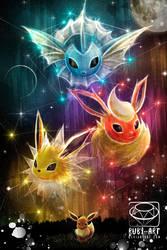 Pokemon Eevee Evolution Fanart by Ruby--Art
