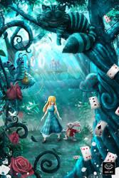 Alice In Wonderland by Ruby--Art
