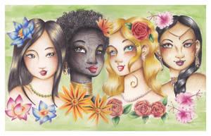 Flower Girls by JupiterBlossem