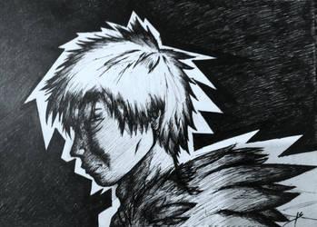 Melancholic warrior by Ultimatechaosblast