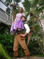 Flynn and Rapunzel by SithcamarowsPadawan