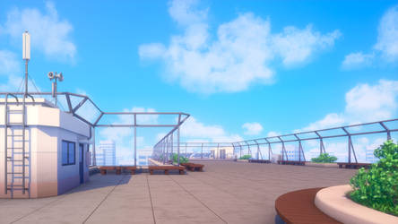 School rooftop by deff00