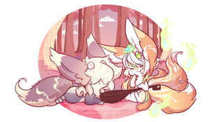 [Elnin Prompt] Love is in the Air with Yoko by Rainywren