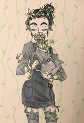 [GORETOBER] Day 5 - Plant growth on body by inopochi