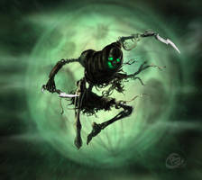 Skeleton rogue action by Haridimus