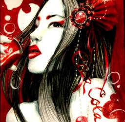Coca Cola Geisha by pinkbutterflyofdeath