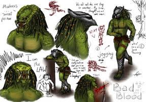 Predator sketch - ...Naaaaaameee heeree XD by GuardianOfNightmares