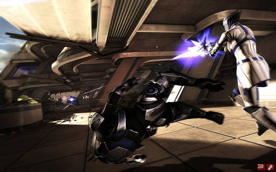Mass Effect Wallpaper - Garrus does 'The Flip by pineappletree