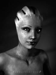 A Photographer on the Citadel - Liara Portrait by pineappletree