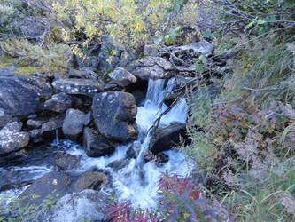 Waterfall in the Mountain by Nao-Shi