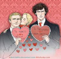 A Sherlockian Valentine by sketchditto