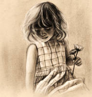 Girl with a flower. by dandipuffs